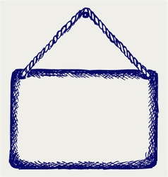 Sign board with rope vector image vector image