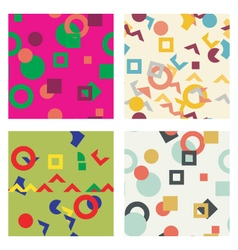 Colorful simple seamless pattern texture Abstract vector image vector image