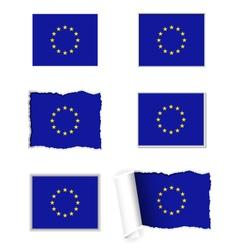 European Union flag set vector image