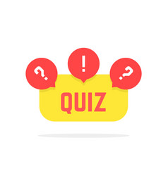 red and yellow quiz button vector image vector image