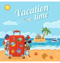 Vacation and Summer Concept vector image vector image