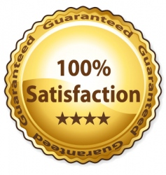 100 satisfaction vector image