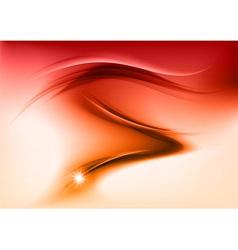 abstract smoke orange vector image