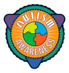 Autism Awareness T-shirt Typography vector image