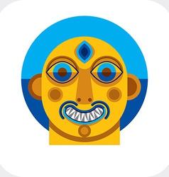 Avant-garde avatar personality face created in vector