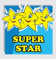 Baby Card with Super Star vector
