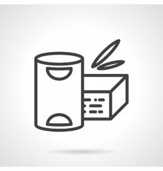 Baby powder milk simple line icon vector image