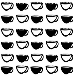 Background with coffee cups vector