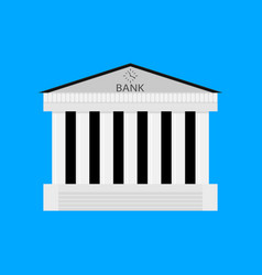 bank buildiing isolated vector image