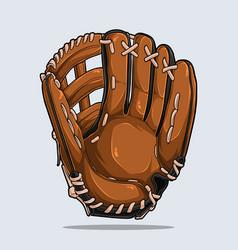 Baseball glove isolated baseball equipment vector