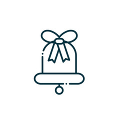 bell happy christmas line icon vector image