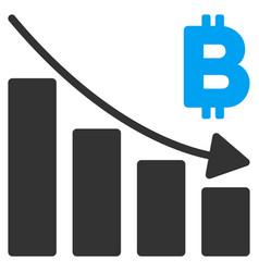 bitcoin recession bar chart flat icon vector image