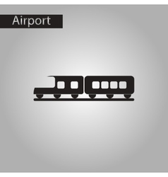 Black and white style icon train vector