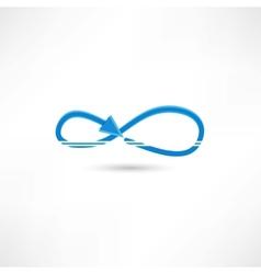 blue infinite icon vector image