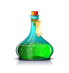 Bottle of green elixir vector