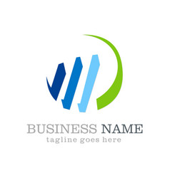 business finance stock logo design vector image