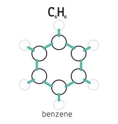 C6H6 benzene molecule vector