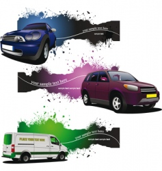car banners vector image