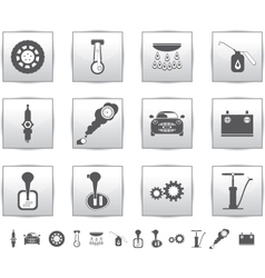 Car set icons auto service square vector