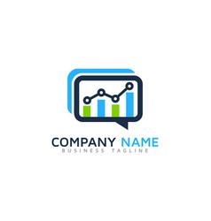 Chat report logo icon design vector