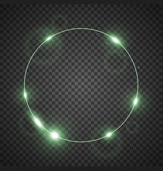 Circle of light green color vector
