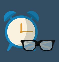 Clock device icon vector