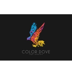 Color dove logo Dove logo Bird logo design vector image