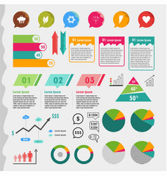 Colorful infographic template vector