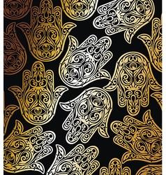Decorative hamsa vector image