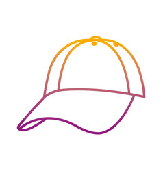 degraded line cap casual textile style accessory vector image