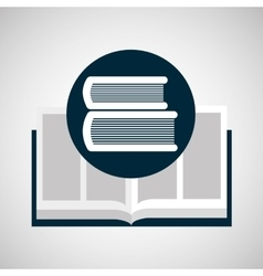 education opened book library icon vector image