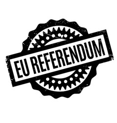 Eu referendum rubber stamp vector