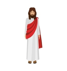 figure human of Jesus Christ vector image