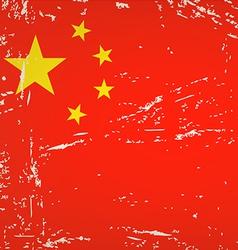 Flag China vector image