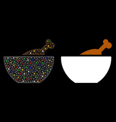 Flare mesh 2d chicken soup icon with flare spots vector