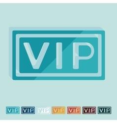 Flat design vip vector