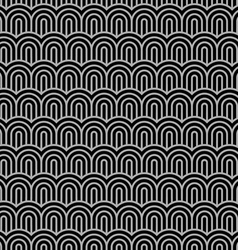 Geometric striped seamless pattern with stylized vector image