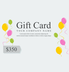 gift voucher card style collection vector image