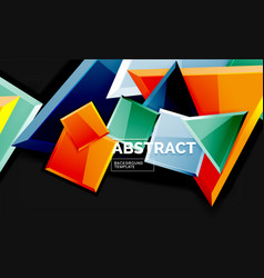 glossy mosaic style geometric shapes - squares and vector image