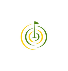 Golf flag tournament logo vector