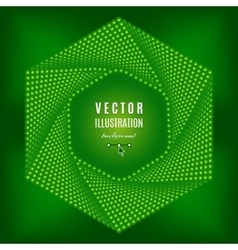 Green abstract background Futuristic technology vector image