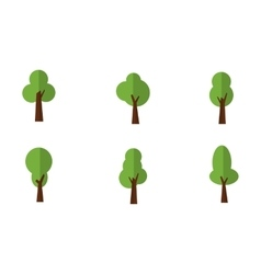 Green trees set vector