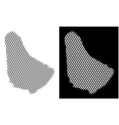 Halftone barbados map vector