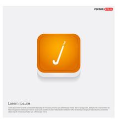 Hockey icon orange abstract web button vector
