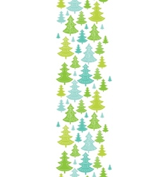 Holiday Christmas trees vertical seamless pattern vector image