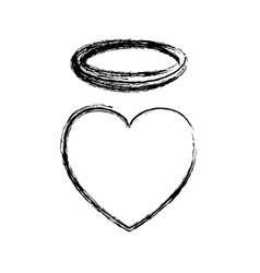 Holy heart love vector