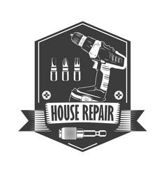 house repair monochrome vector image