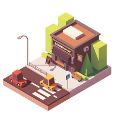 Isometric barber shop vector