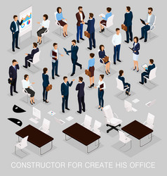 Isometric business people for conception vector