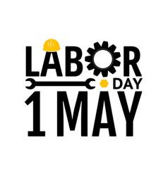labor day design elements icon label badge vector image